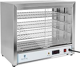 Royal Catering Vitrine Chauffante Maintien au Chaud RCHT-1000 (36x64x53cm, 1.000W, température de chauffe 30-85°C, bac de ...