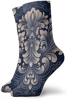 – Calcetines para mujer y hombre, diseño de puntos, sin costuras Calcetín clásico de lujo Old Sports, 30 cm