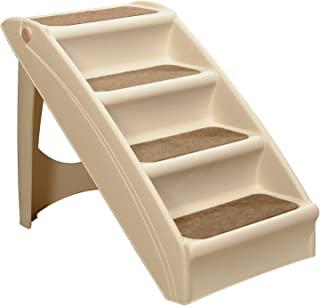 PetSafe Solvit PupSTEP Plus Pet Stairs, Foldable Steps for Dogs and Cats, Best for Small..