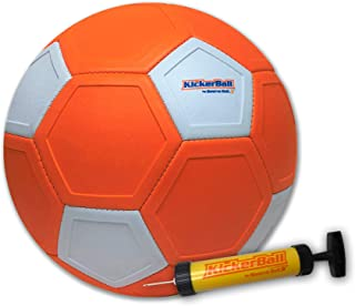 Kickerball - Curve and Swerve Soccer Ball/Football Toy - Kick Like The Pros, Great Gift for Boys and Girls - Perfect for Outdoor & Indoor Match or Game, Bring The World Cup to Your Backyard