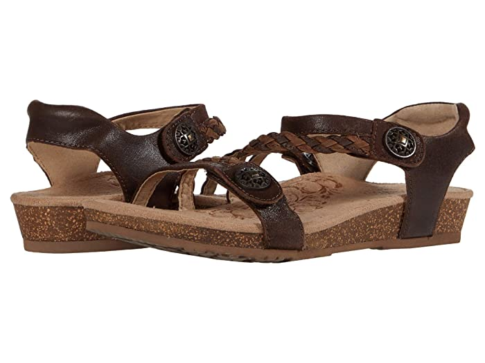 Aetrex  Jillian Quarter Strap (Dark Brown) Womens Sandals