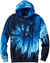 Tie-Dye Men's Tie-Dyed Fluorescent Hooded Sweatshirt, XXX-Large, Blue Ocean