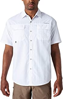 NAVISKIN Camisa Casual de Manga Corta Protección UV UPF 50 para Hombre Camiseta Deporte Térmica Pesca Acampada Campismo Se...