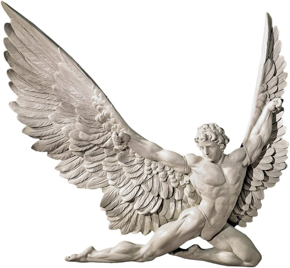 Design Toscano NG33636 Icarus Winged service 11 Popularity Man Sculpture Inch Wall