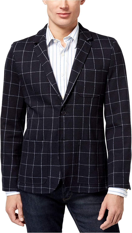 Tommy Hilfiger Mens Grid Two Button Blazer Jacket