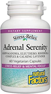 Natural Factors Stress Relax Serenity Formula with Sensoril - 60 Vegetarian Capsules