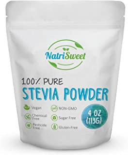 Sponsored Ad - NatriSweet 100% Pure Stevia Powder 4 oz (113g), Zero Calorie All Natural Sweetener, Sugar Substitute, No Ca...