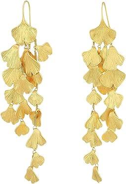 Tory Burch - Ginkgo Leaf Linear Earrings