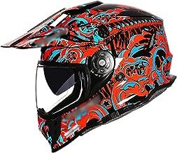 BBJZQ ECE Motocross Helmet Matte Youth ATV MX Helmet with Dual HD Transparent Visors Off Road Downhill All Mountain Riding Helmet Good Ventilation Cross Country Helmet Downhill Helmet