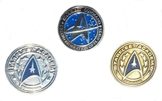 "25mm pin button 1"" badge Next Generation STAR TREK FEDERATION OF PLANETS"