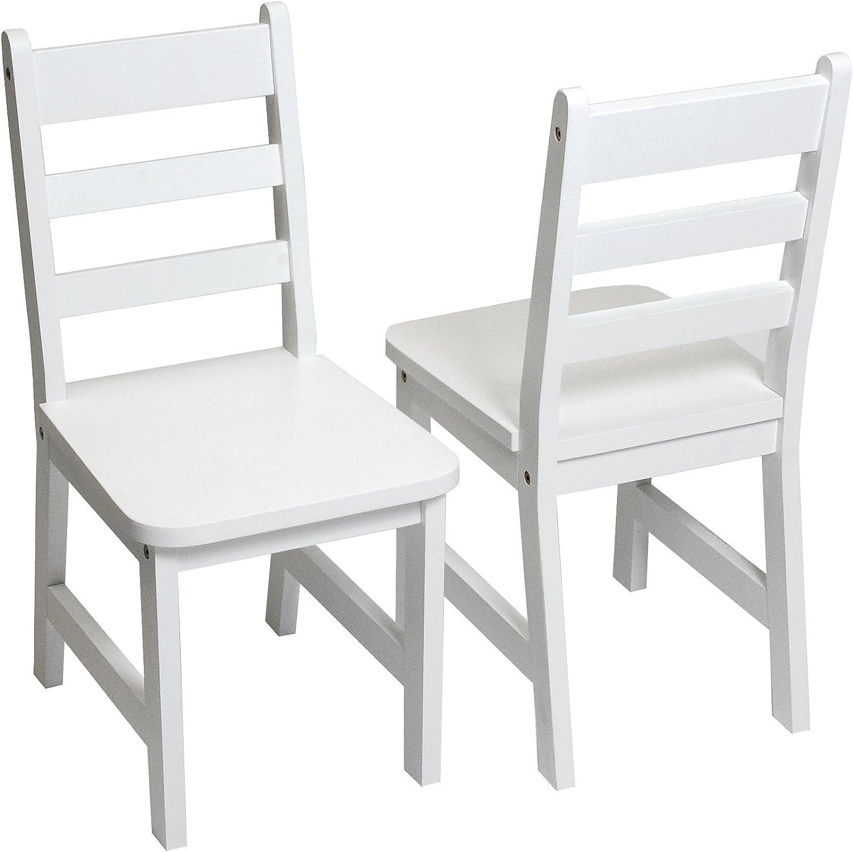 comprar descuentos Lipper Internacional 523 4W 4W 4W del Niño sillas, Juego de 2, blancoo  marcas de diseñadores baratos