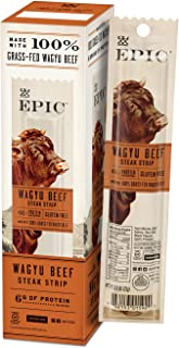Epic Provisions Wagyu Beef Steak Strips, Grass-Fed, 10 Count Box 0.8oz strips