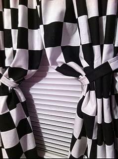 Bedroom Boys Room Cars Checkered Flag Black and White 42