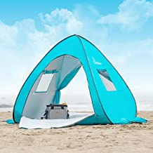 WolfWise UPF 50+ Easy Pop Up Beach Tent Sun Shelter Quick Instant Automatic Portable Sport Umbrella Baby Canopy Cabana Sun Shade