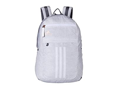 adidas League 3 Stripe Backpack (Jersey White/Rose Gold) Bags