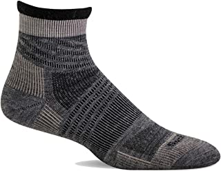Sockwell Men's Summit Quarter II Firm Compression Sock, Grey - L/XL