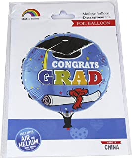 Congrats Graduation Foil Balloon - 18 Inches - 362-6, Blue