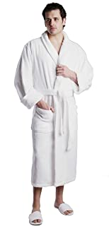 Unisex Terry Bathrobe - 100% Lux Combed Cotton Robes, Five-Star Hotel Choice