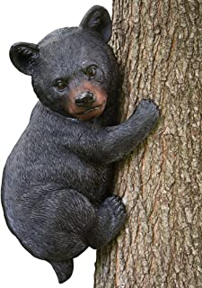 Bits and Pieces - Baby Bear Up a Tree Garden Peeker - Tree Hugger - Outdoor Tree Sculpture - Gifts and Garden Décor Tree Hugger Faces for Trees - Bear Cub Resin Sculpture, 13-3/4