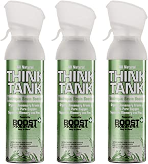 Boost Oxygen Think Tank All Natural Organic Rosemary Aroma Inhalable Nootropic to Support Memory, Focus and Cognitive Func...