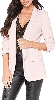 Red Olives® New Ladies Frill Ruffle 3/4 Sleeve Duster Coat Women Jacket Blazer UK 8-26