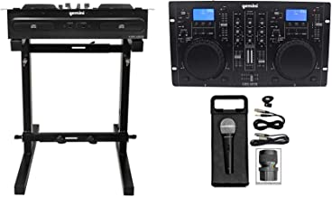 Gemini CDM-4000 2 Ch. Dual DJ Mixer Media Player w/ MP3/CD/USB+Stand+Mic+Cable