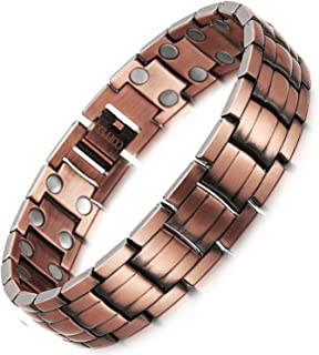 HZX Pure Copper Magnets Therapy Bracelet Pain Relief for Arthritis and Carpal Tunnel Health Care Elements for Men