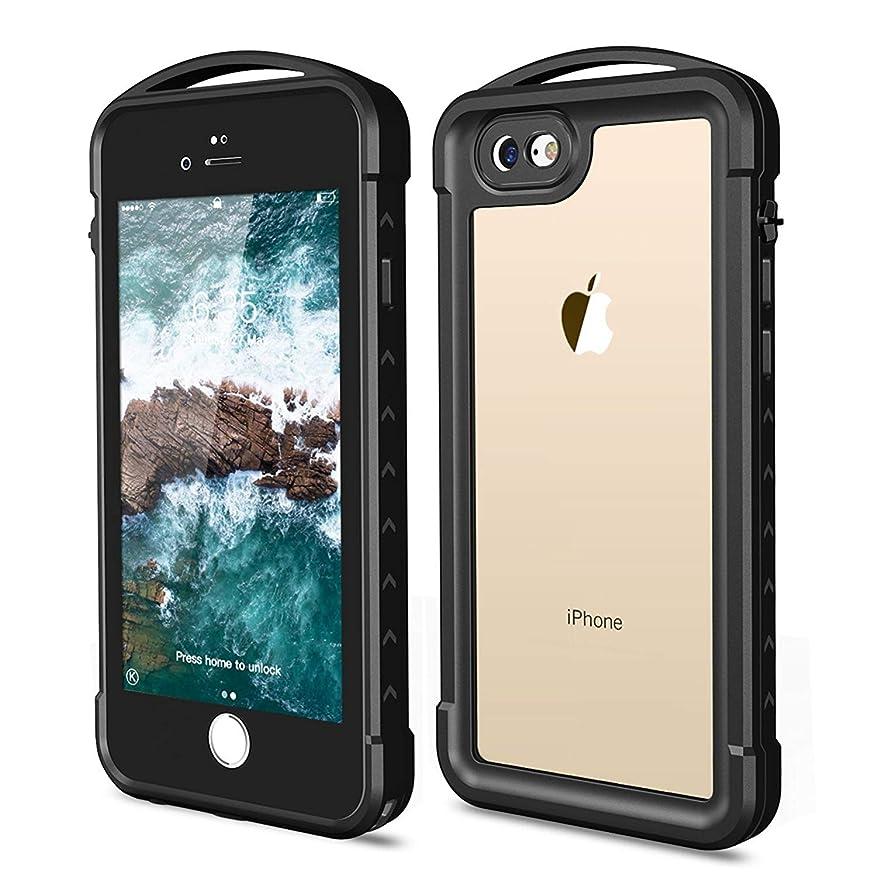 イベントポジション返済iPhone 7?/ 8防水ケース、Snowfox耐衝撃Dirtproof Snowproof ip68認定防水クリアケース内蔵スクリーンプロテクター全面丈夫なカバー付きfor iPhone 7?/ Iphone 8?4.7インチ