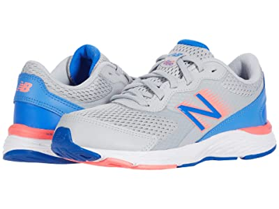 New Balance Kids 680v6 (Little Kid/Big Kid) (Light Aluminum/Faded Cobalt 1) Girls Shoes