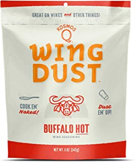 Kosmos Q Buffalo HOT Wing Dust | Chicken Wing Seasoning | Dry BBQ Rub Spice | 5 oz. Bag