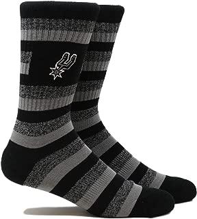 Pkwy NBA Unisex Crew Socks/Spurs Steps Crew
