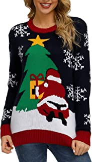 Sovoyontee Women's Cute Funny Hilarious Ugly Christmas Sweater