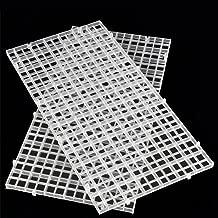 Woopower - Separadores para pecera, 2 paquetes de 30 x 15 cm, para acuarios, bandejas divisoras, filtro para huevos, para aislar el fondo, negro/blanco.