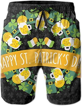 45b6e5895b34d PPANFKEI ST.Patrick's Day Drawstring Mens Boardshorts Swim Trunks Men  Tropical Gym Athletic Board Shorts