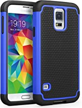 Galaxy S5 Case, SYONER [Shockproof] Hybrid Rubber Dual Layer Armor Defender Protective Case Cover for Samsung Galaxy S5 S V I9600 [Blue/Black]