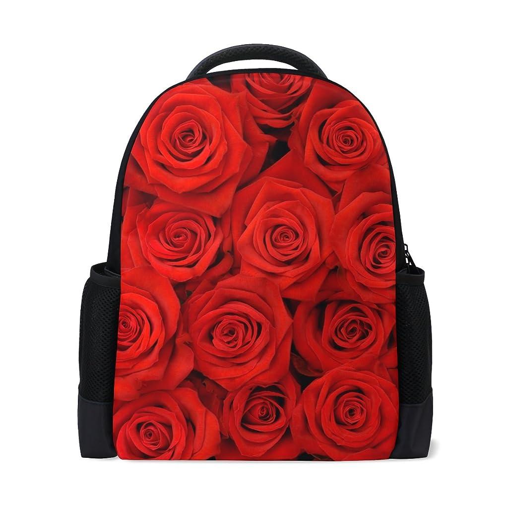 アクセル対応する先史時代のAOMOKI バッグ リュック リュックサック 男女兼用 旅行 大容量 プレゼント バラ