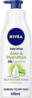 NIVEA, Body Care, Body Lotion, Aloe & Hydration, Normal to Dry Skin, 400ml
