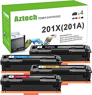 Aztech Compatible Toner Cartridge Replacement for HP 201X 201A Color Laserjet Pro MFP M277dw M252dw M252n M277n M277c6 Ink...