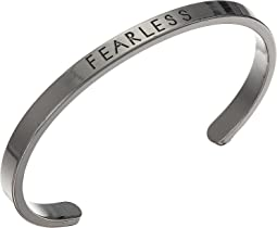"""Fearless"" Open Bangle Bracelet"