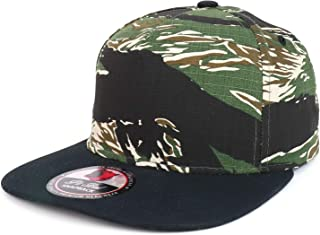 Trendy Apparel Shop Camo Patterned 5 Panel Structured Flatbill Snapback Cap