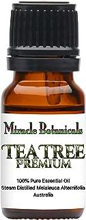 Miracle Botanicals Australian Tea Tree Premium Essential Oil - 100% Pure Melaleuca Alternifolia - Therapeutic Grade - Australia - 10ml