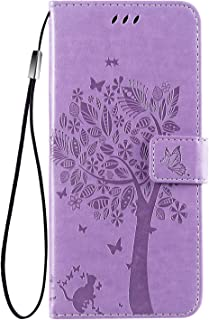Samsung Galaxy A12 Wallet Case,Galaxy A12 PU Leather Protective Case Emboss Love Tree Cat Folio Magnetic with Card Holder ...