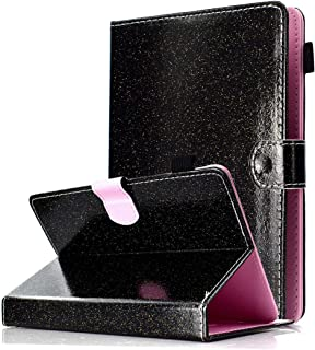 Universal 7 inch Tablet Case, ANGELLA-M Bling Glitter Sparkle Cover Multiple Viewing Angles Stand & Card Slots Case Acer Iconia one 7 B1-780 /B1-770 /Acer Iconia Talk S (A1-734)- Black