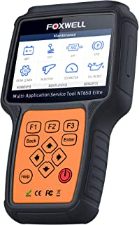 FOXWELL NT650 Elite Scanner OBD2 automotivo OBD II ABS Leitor de código de airbag com SAS EPB DPF EPS CVT TPMS TPS Registr...