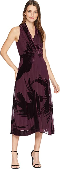 Sleeveless Velvet Burnout Maxi Dress