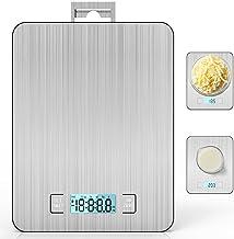 Smart Digital Balance de Cuisine, Balance avec écran LCD Pour Cuisine en Acier Inoxydable, 15 kg/33lbs, Balance de Aliment...