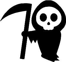 LeoPro Cartoon Grim Reaper Halloween Scary Death Vinyl Sticker Decal (4