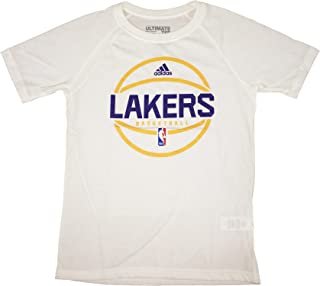 Los Angeles Lakers White Ultimate Short Sleeve Performance Tee Youth