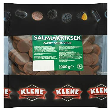 1 Kilo/2,2lbs – KiloBag – Klene Salmiak Riksen zacht zout Drop (monedas de salmiak suave salada Licorice)