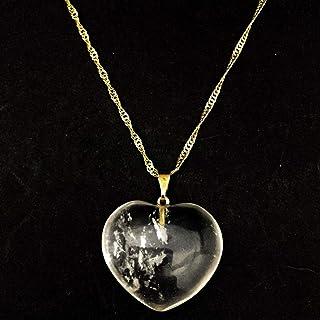 Colar Folheado Ouro Coração Cristal Transparente